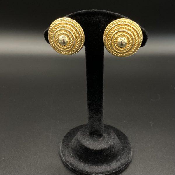 boucles d oreilles clips David grau vintage 80s