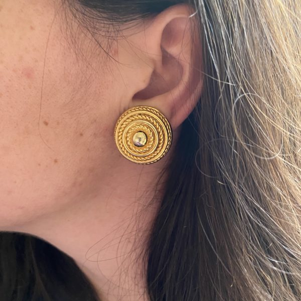 david grau vintage earrings clips 80s