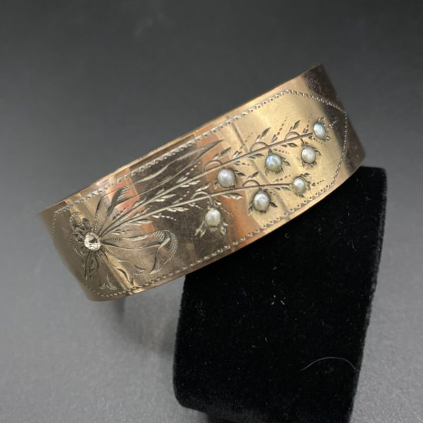 art nouveau brooch Lily of the valley 1900