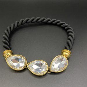 collier vintage cristal passementerie elegance