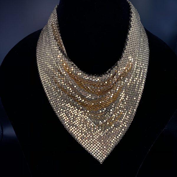 whiting & Davis necklace vintage 70s bandana