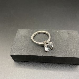 bague argent cristal de roche Niels erik scandinave design 1960