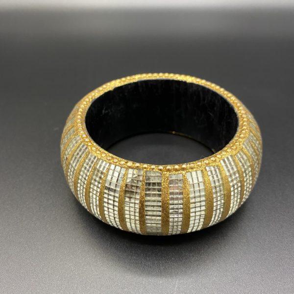 bracelet dore miroir 80s