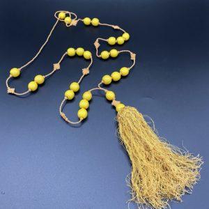 sautoir art deco jaune
