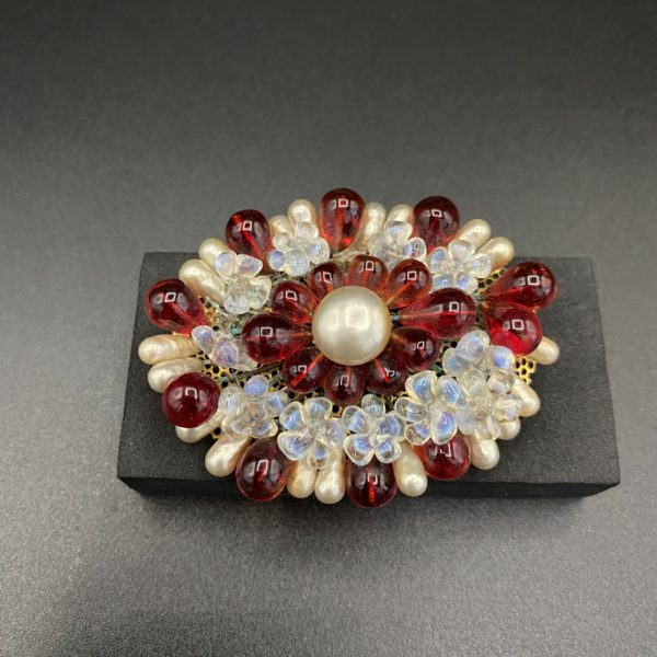 broche louis rousselet verre opalescent art deco