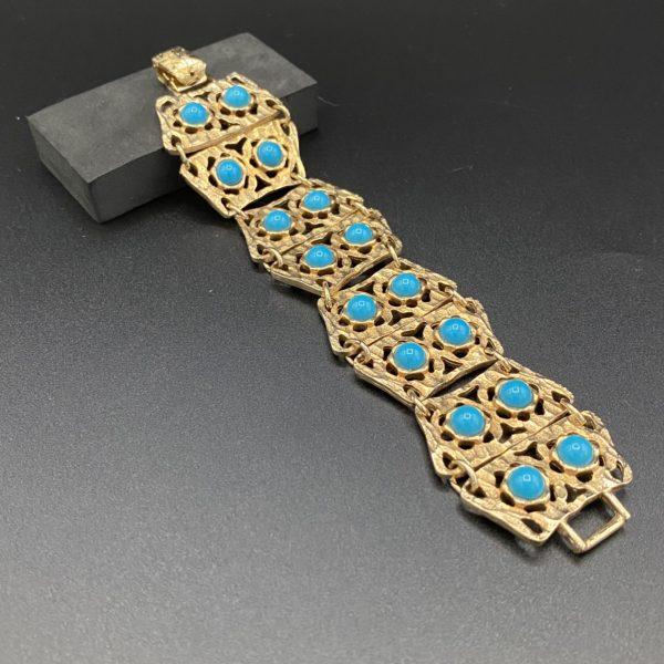 bracelet vintage turquoises 60s